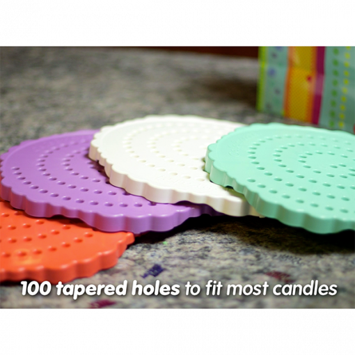 Birthday Candle Board, Birthday Candle Holder - 100 Tapered Holes