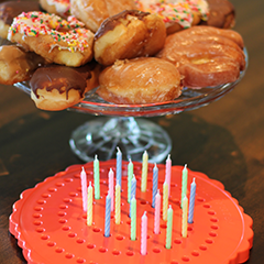 Birthday Candle Board, Birthday Candle Holder with Donuts
