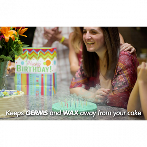 Keeps germs and wax away from your birthday cake.
