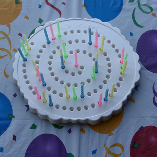 The Birthday Candle Board White with Candles