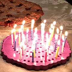 Birthday Candle Board, Birthday Candle Holder with Apple Pie