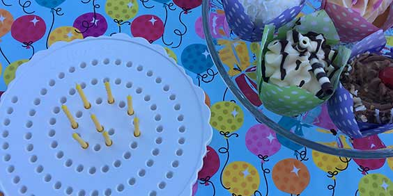 Birthday Candle Board with Cupcakes