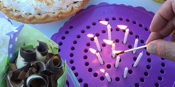 Lighting Candles on the Birthday Candle Board