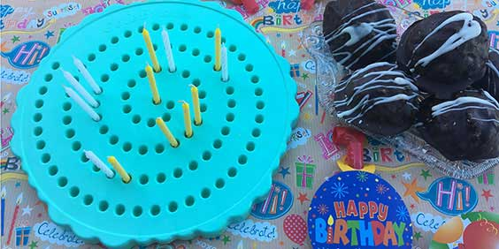 Birthday Candle Board with Macaroons
