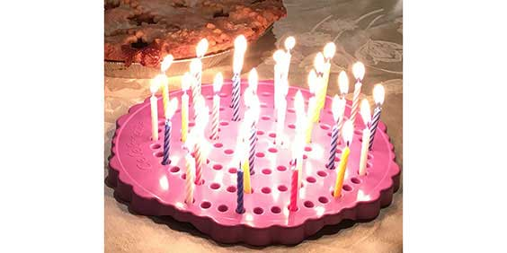 Birthday Candle Board with Pie
